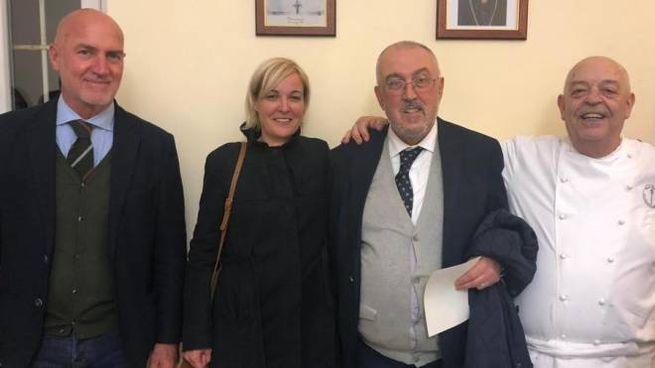 Lo chef Ricciardi con la restauratrice Francesca Gatti, presidente e direttore di Formimpresa Figoli e Tognoli