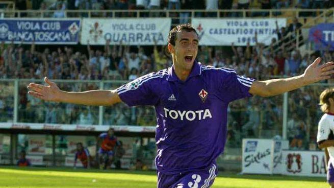 Dario Dainelli con la maglia della Fiorentina