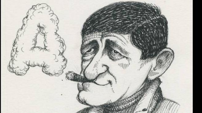 Corrado Orrico in una storica vignetta di Alessandro Sesti
