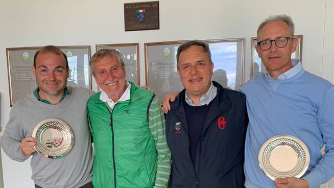 Alberto Galatolo e Fabrizio Allegrini (ai due lati) con Ottavio Campoli e Andrea Scapuzzi
