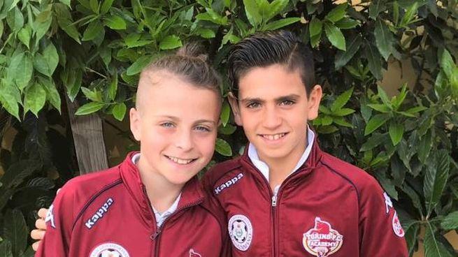 I calciatorini Jacopo Barlacchi e Gabriele Gentili