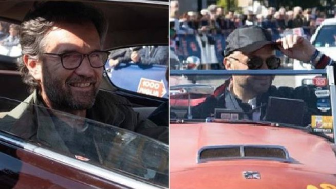 Cracco e Bastianich alla Mille Miglia (Foto Comune di Desenzano)