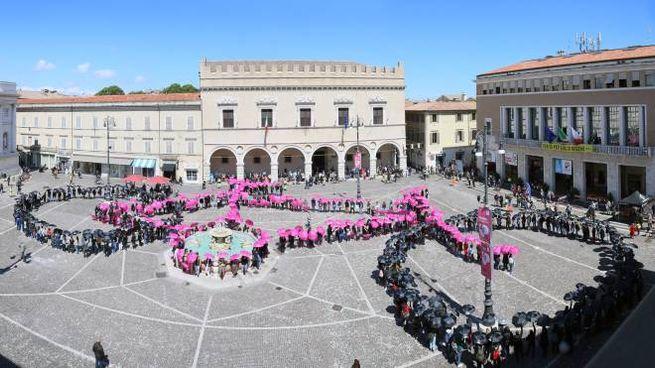 La bicicletta gigante in Piazza del Popolo (Fotoprint)