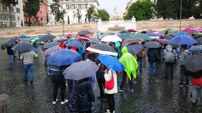 La manifestazione dei terremotati a Roma