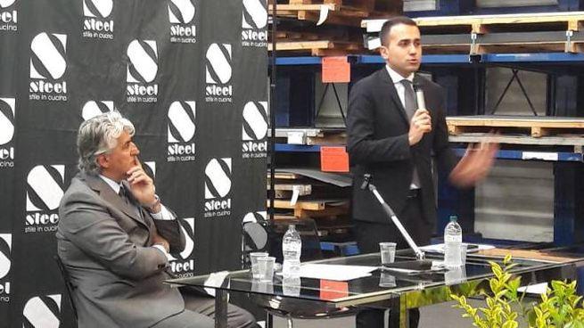 Il discorso del ministro Luigi Di Maio nell'azienda Steel di Carpi