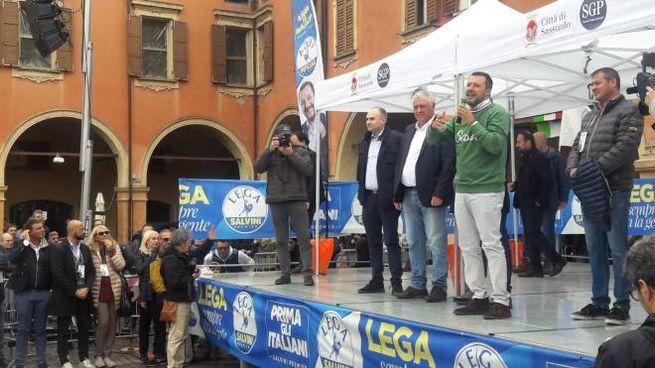 Il comizio di Salvini a Sassuolo