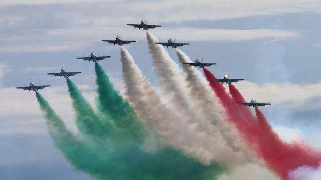 Frecce Tricolori a Pisa (foto Andrea Valtriani)