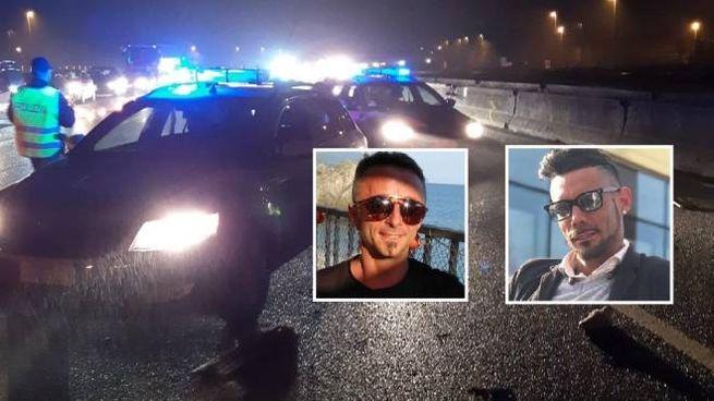 Il tragico schianto in A1 e le vittime: da sinistra Luigi Visconti e Fausto Dal Moro