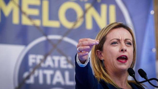 La leader di Fratelli d'Italia Giorgia Meloni (Ansa)