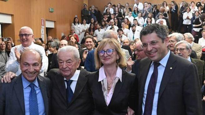 Sergio Venturi, il professor Sante Tura, Antonella Messori e Francesco Ubertini