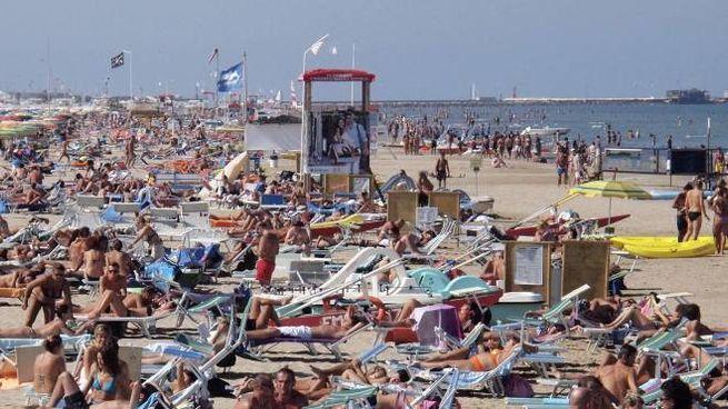 La spiaggia di Rimini (foto Pasquale Bove)