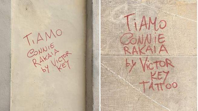 Le scritte sul loggiato del Corridoio Vasariano