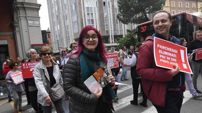 Tram, protesta a Bologna (FotoSchicchi)