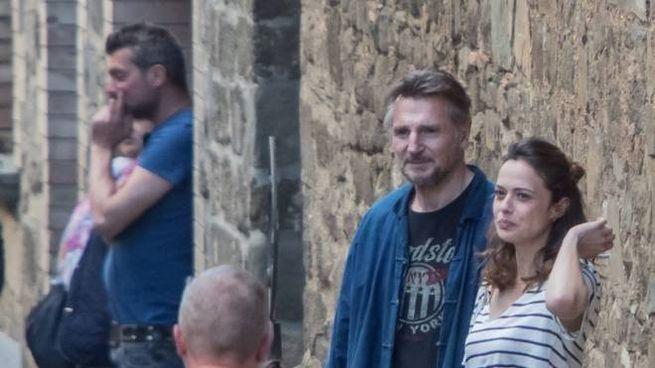 Liam Neeson a Montalcino (copyright Fotocronache Germogli/Andi Sthylla)