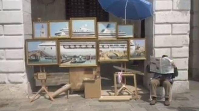Banksy espone a Venezia senza permesso