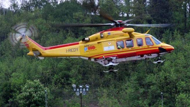 Un elicottero del 118 (Foto di repertorio)