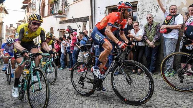 Nibali durante la 12esima tappa del Giro d'Italia (Ansa)