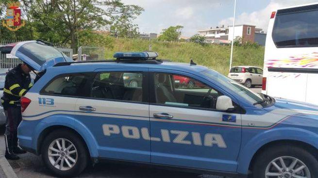 Un momento del controllo a Prato