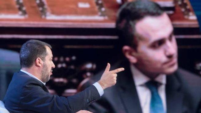 Salvini e DI Maio, rush finale di campagna elettorale (imagoE)