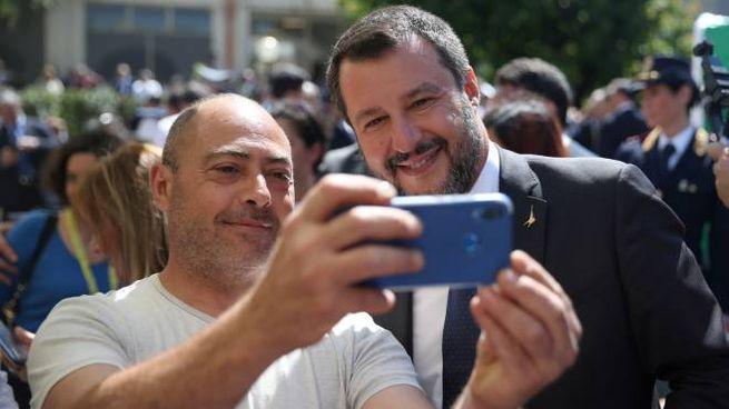 Matteo Salvini, rush finale prima delle europee (Lapresse)