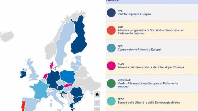Elezioni europee, la mappa