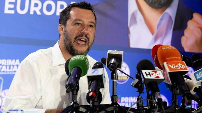 Matteo Salvini commenta i risultati delle Europee (Newpress)