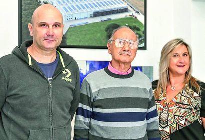 TRE GENERAZIONI Il patron. Adriano Pasquali con i figli Fabio e Silvia