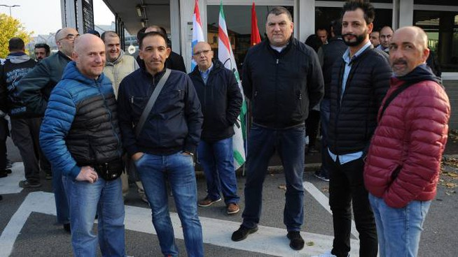 Lavoratori dell'Abb in sciopero