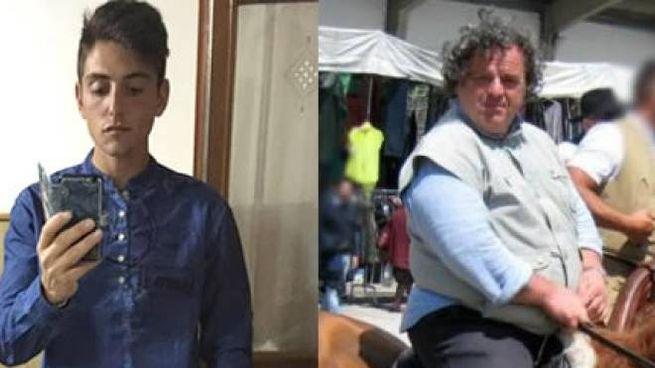 Valerio Andreucci, 26 anni, e il medico veterinario  Olindo Pinciaroli, 53
