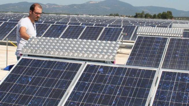 Un impianto fotovoltaico, il settore energia è uno di quelli in sofferenza