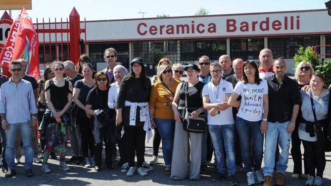 Sciopero dei lavoratori della Ceramica Bardelli
