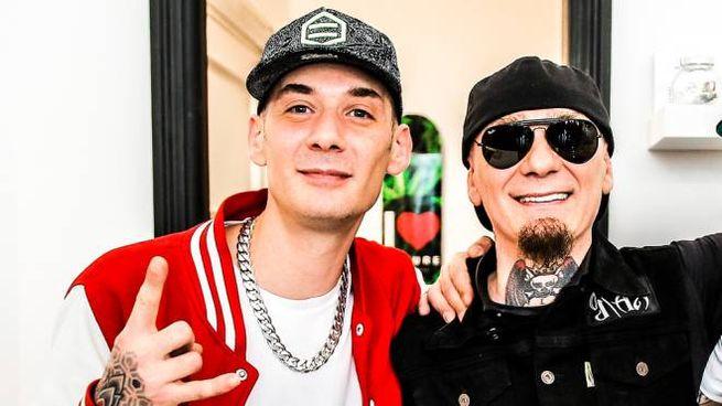 Il rapper Grido e il fratello J-Ax