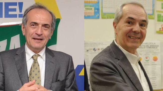 Gian Luca Zattini e Giorgio Calderoni, gli sfidanti al ballottaggio a Forlì
