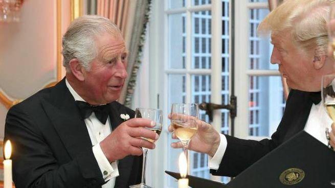 Donald Trump e il Principe Carlo (Ansa)