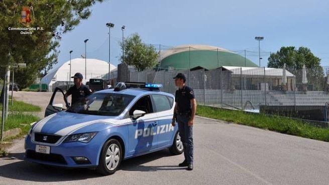 La polizia alla Vescovara