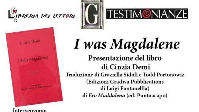 La locadina di presentazione di 'Magdalen' di Cinzia Demi