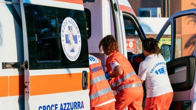 L'ambulanza è intervenuta sul posto