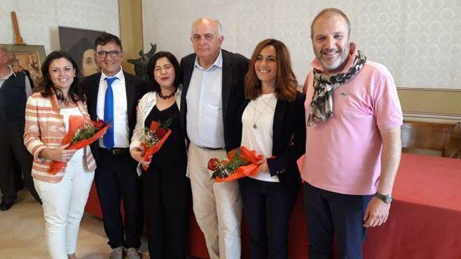 Urbino: Giunta GAmbini (da sx, Foschi, Cioppi, Maffei, Gambini, Vetri, De Crescentini