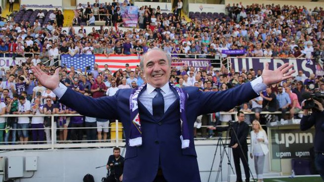 Rocco Commisso, bagno di folla allo stadio (New Press Photo)
