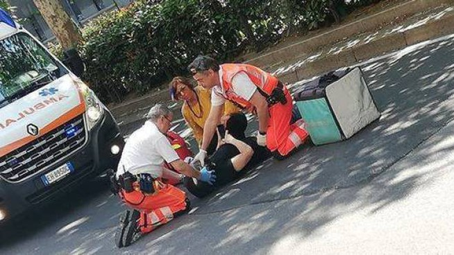 Rider coinvolto in un incidente