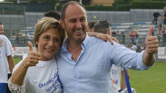 Il presidente  Yuri Camoni con il sindaco Silvana Centurelli.