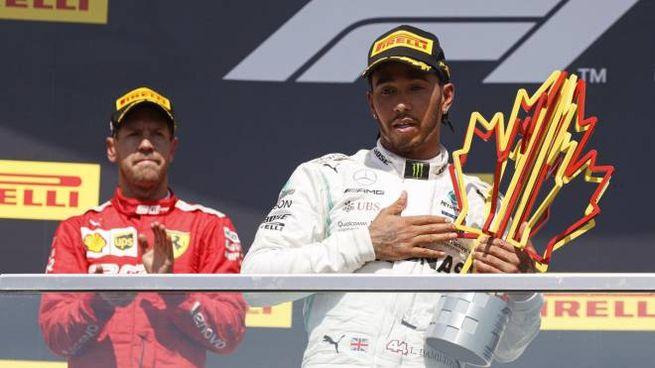 F1 Gp Canada 2019, il podio (Ansa)