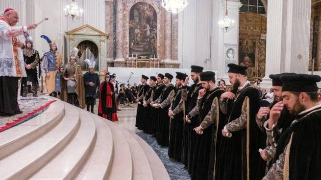 Cavalcata Assunta 2019 Fermo, il giuramento dei Priori (Foto Zeppilli)