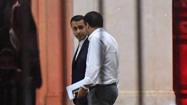 Di Maio e Salvini al termine del vertice con Conte (Ansa)