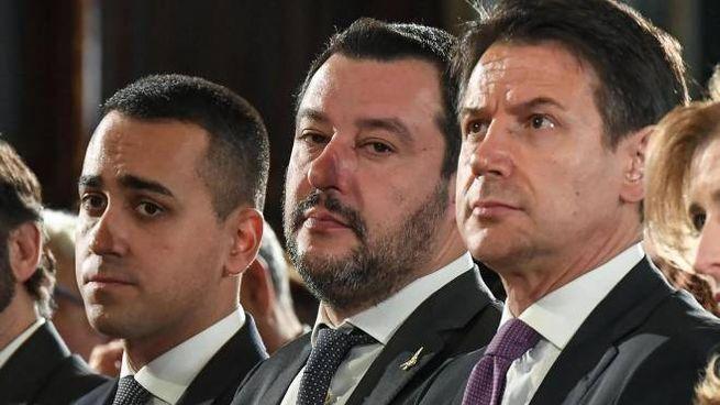 Di Maio, Salvini, Conte (Ansa)