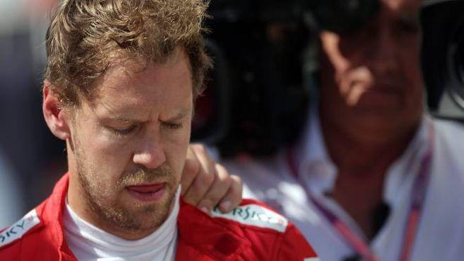La delusione di Sebastian Vettel in Canada (LaPresse)