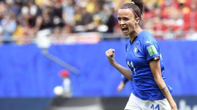 Barbara Bonansea esulta dopo il gol contro l'Australia (LaPresse))