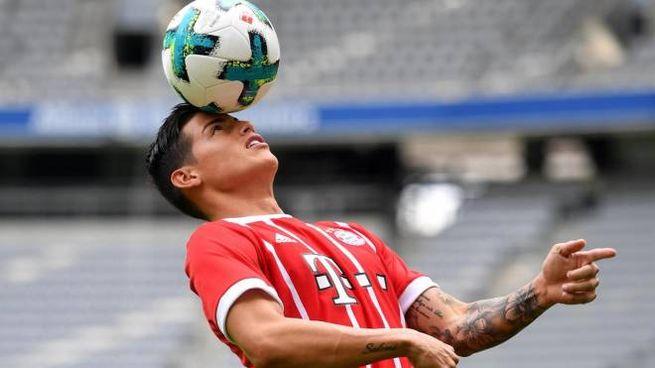 James con la maglia del Bayern