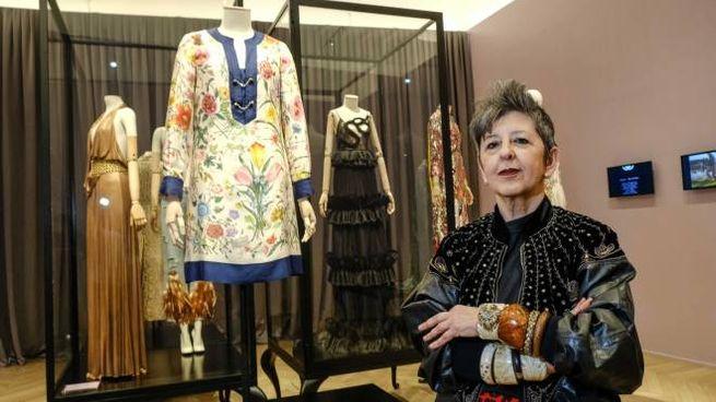 Maria Luisa Frisa nelle nuove sale della Gucci Garden Galleria (Pressphoto)