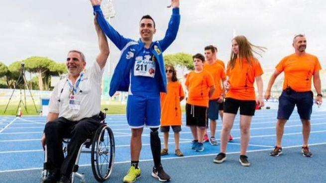 Lollo con il presidente della Federazione Italiana sport paralimpici sperimentali